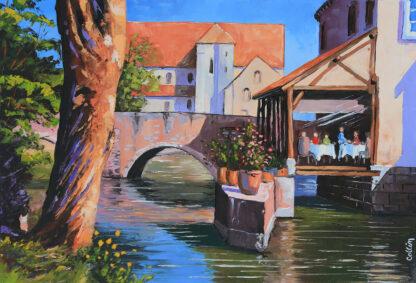 La collégiale Saint André et le moulin de Ponceau à Chartres