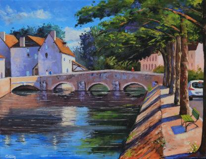Pont des minimes et moulin de Ponceau à Chartres