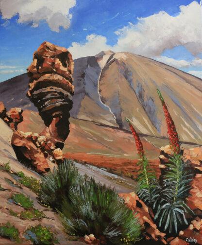 Roque Cinchado proche du teide à Tenerife