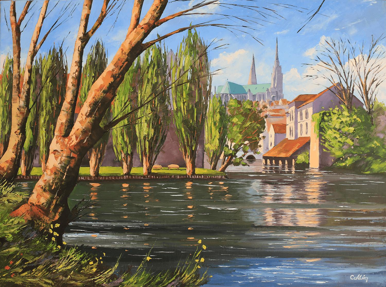 La Cathédrale de Chartres vue du pont neuf