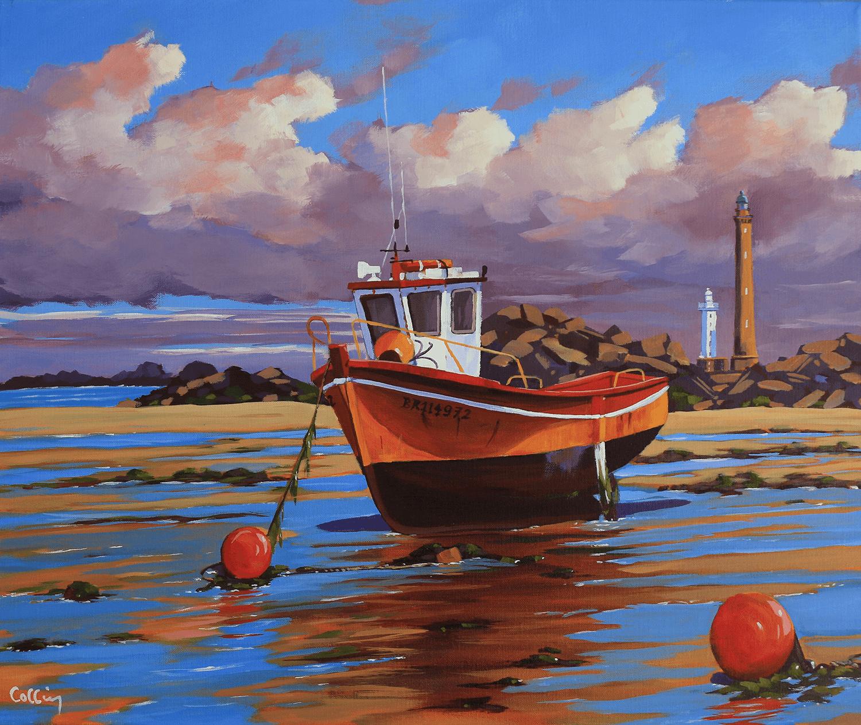 bateau de pèche vers l'ile vierge